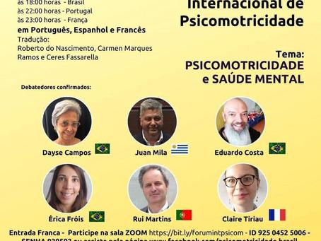 Saúde Mental é o tema do Fórum Internacional de Psicomotricidade