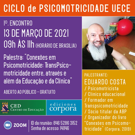 Eduardo Costa abre o Ciclo de Psicomotricidade da UECE