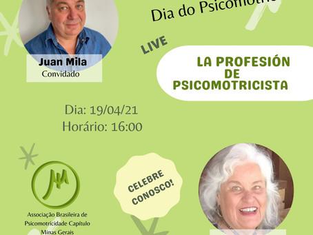 Susana Cabral recebe Juan Mila em live do Dia do Psicomotricista