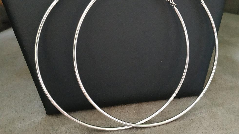 Créole simple argenté 9cm