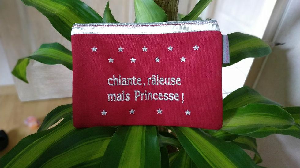 """Pochette Géranium """"Chiante, râleuse mais Princesse"""""""