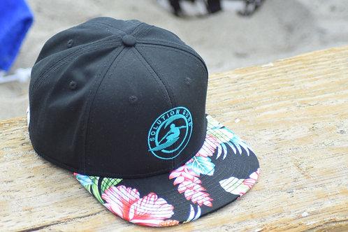 Floral Hat Solution Surf Logo