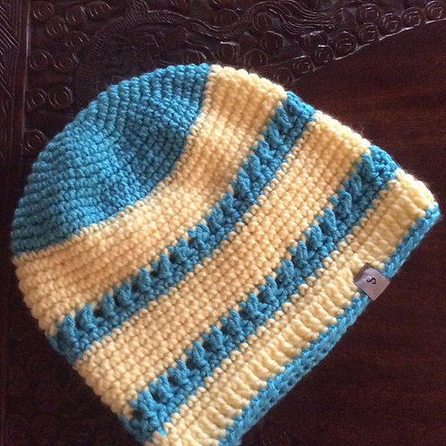 Beanie Turquoise and Yellow