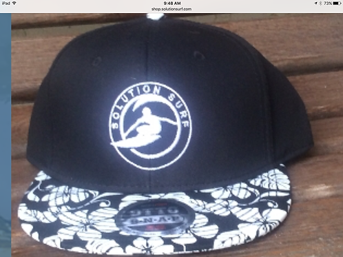 White Floral Solution Surf Logo Hat