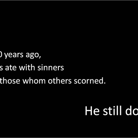 Eating With Sinners