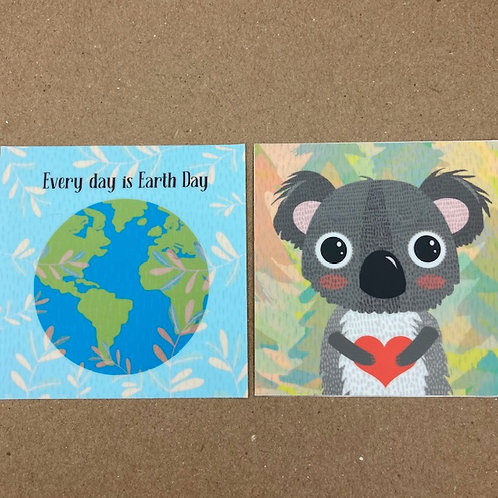 Earth Collection Stickers - set of two