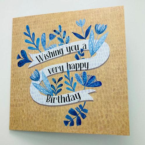 Greeting Card - Wishing you a very happy Birthday