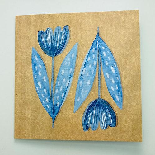 Greeting Card - Tulips - blank