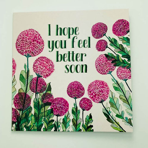 Greeting Card - I hope you feel better soon