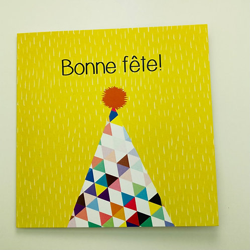 Greeting Card (french) - Bonne fete!