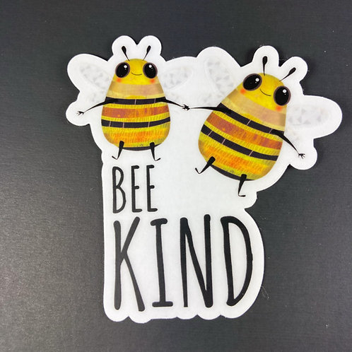 Bee kind - transparent sticker
