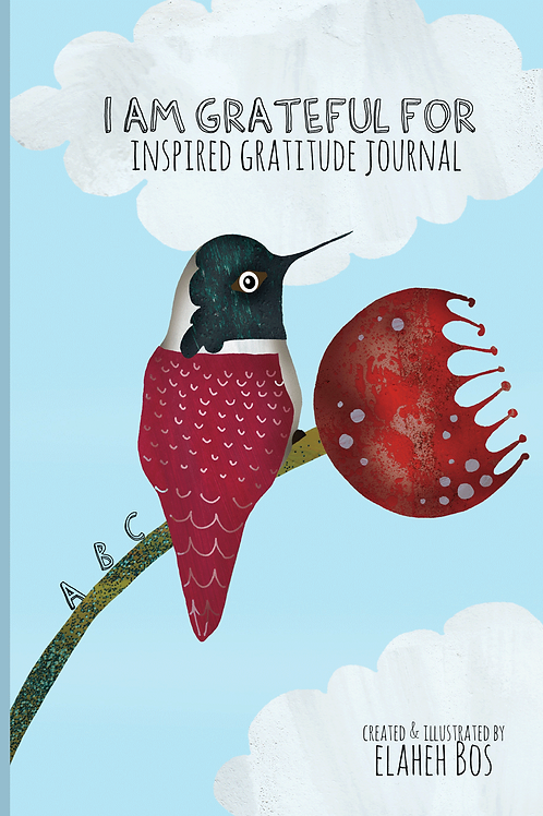 I Am Grateful for - Inspired Gratitude Journal: Hummingbird Cover