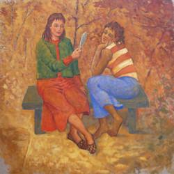 """Femmes au miroir """"Deux amies"""""""