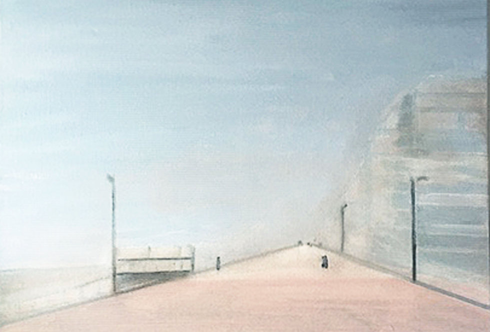 Foggy day on the sea wall    (Cat N° 6575)