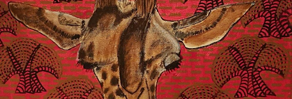 Giraffenportrait mit Bäumen    (Cat N° 5849)