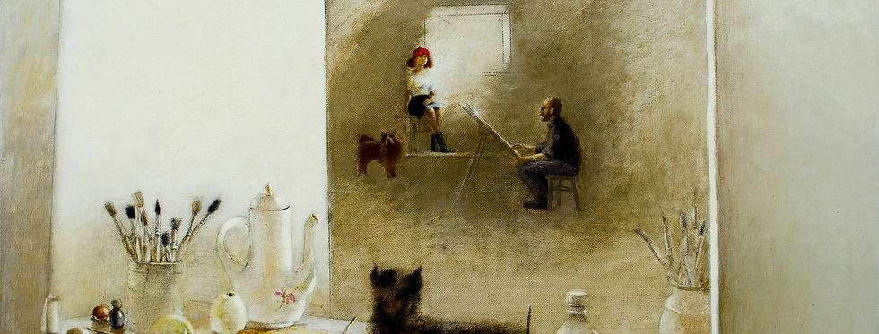 """""""Makslinieka Darbnica"""" (In painter's studio)    (Cat N° 5454)"""