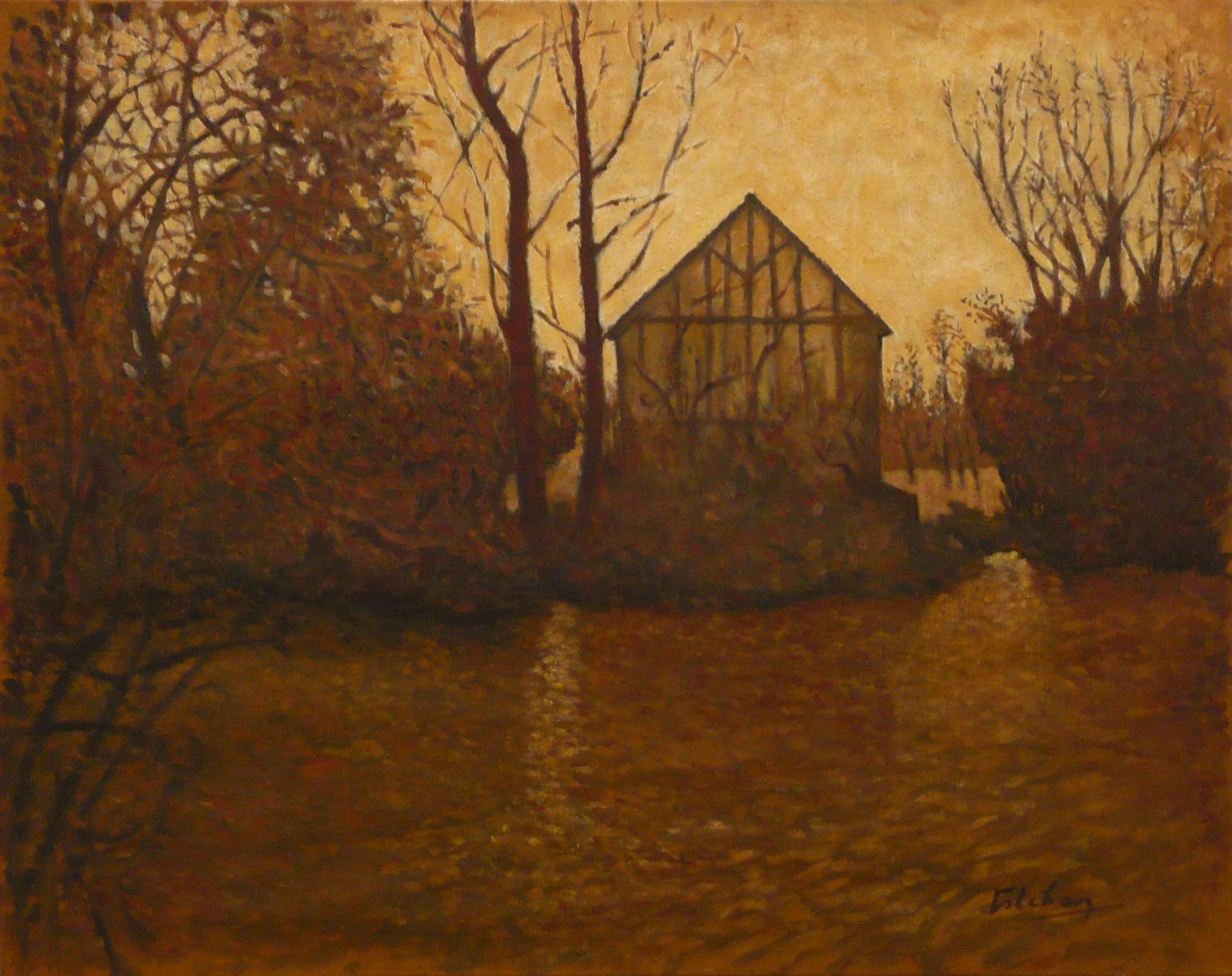 La maison de l'étang (ocre)