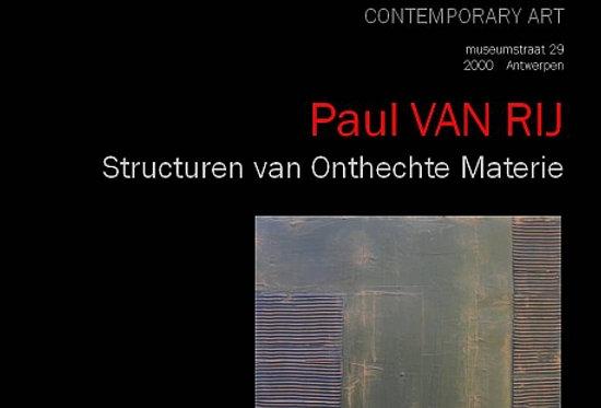 Paul Alexander van Rij - Structuren van Onthechte Materie - 2012