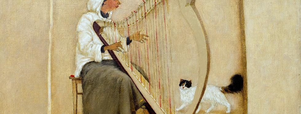 Harpist with cat    (Cat N° 5487)