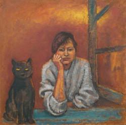 Femme au chat