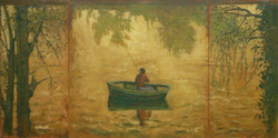 Le pêcheur (la Seine) - ocre
