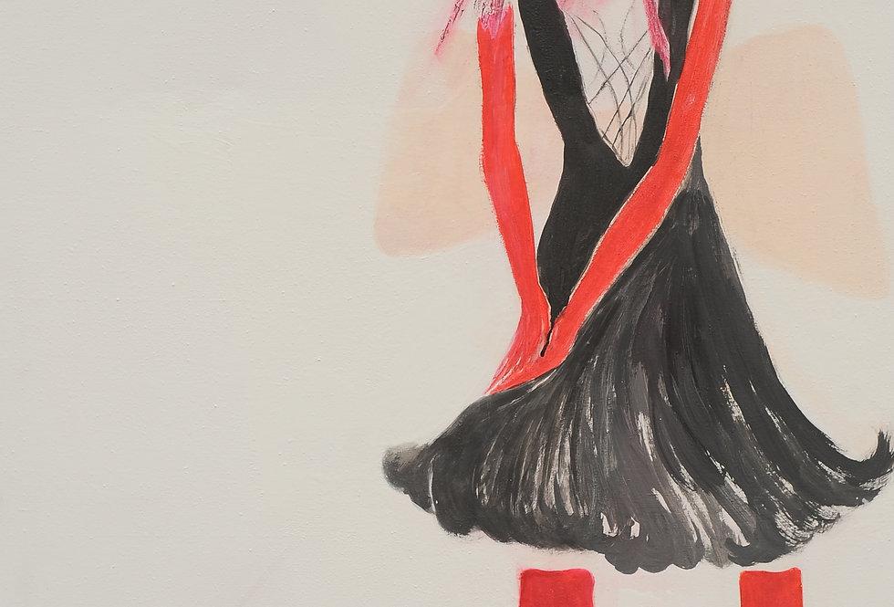 New Court Ladies - Noir Rouge et Blanc Nr. 11    (Cat N° 2106)