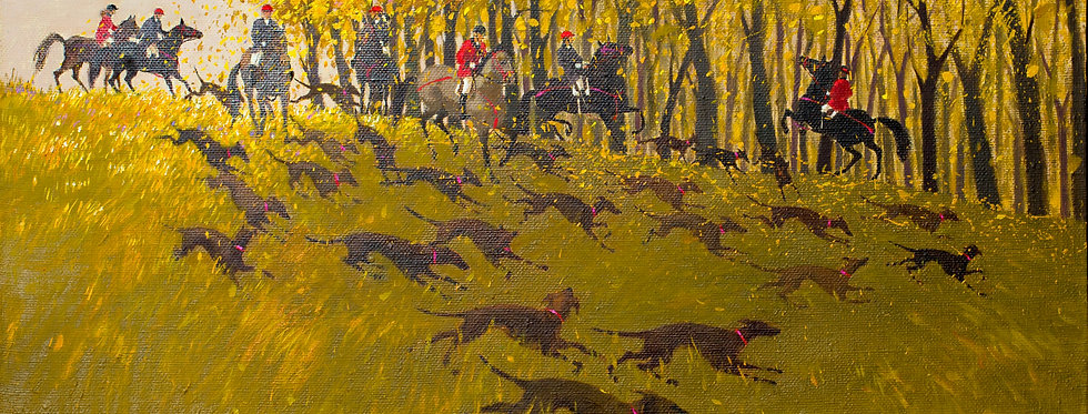 The Hunting with Grey Houds. Autumn    (Cat N° 5447)
