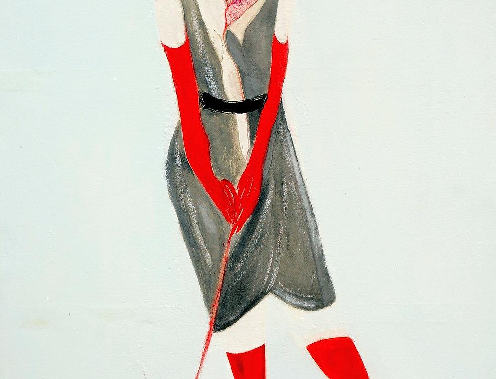 New Court Ladies - Noir Rouge et Blanc Nr. 10    (Cat N° 2105)