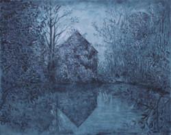La maison de l'étang (bleu)