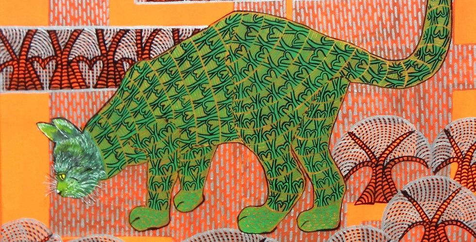 BaumKatze, grün    (Cat N° 5831)