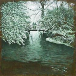 Petit pont neigé
