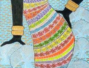 Afrikanerin im Baumkleind    (Cat N° 6035)