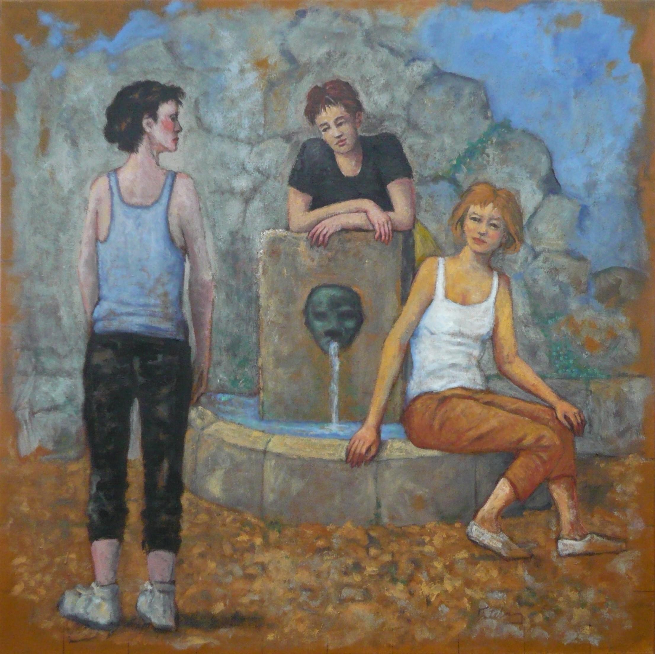 Femmes à la fontaine (Corse bleu n°