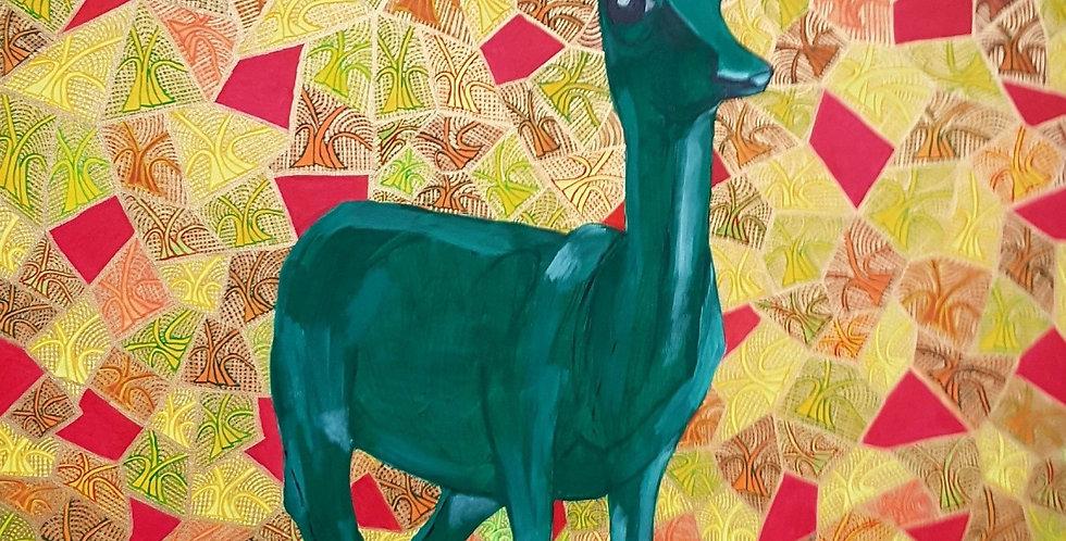 Grünes Reh im Wald    (Cat N° 5836)