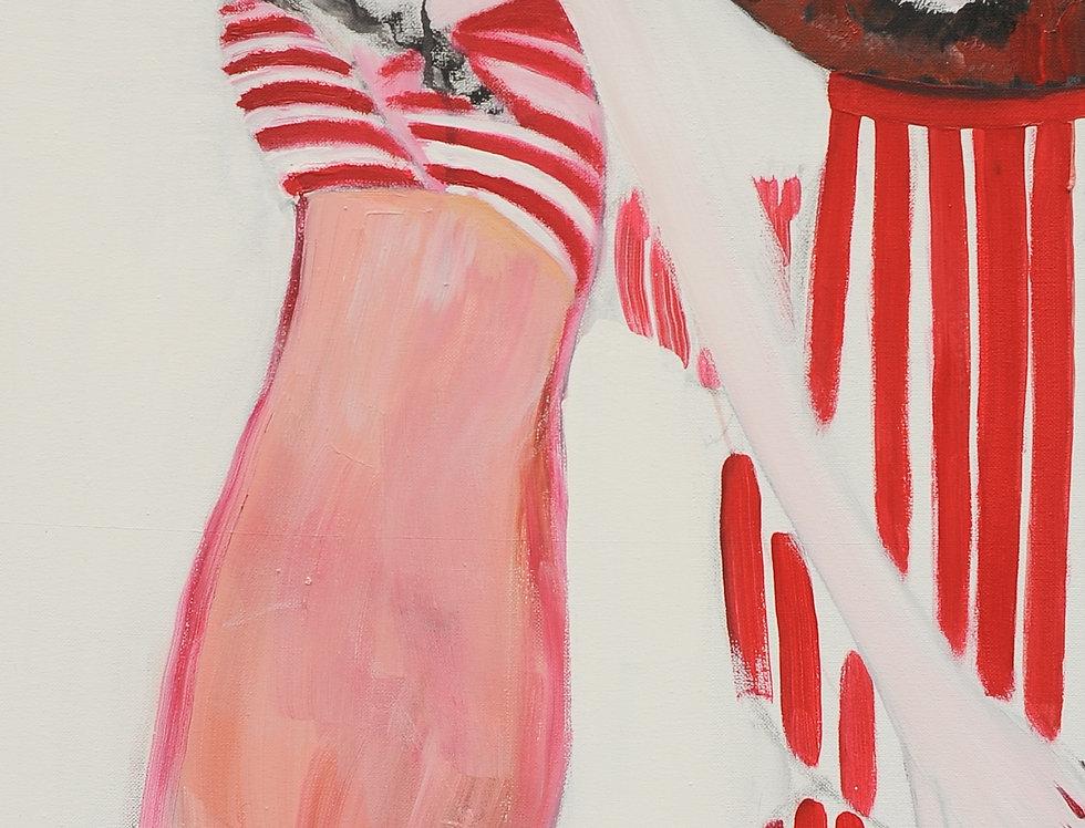 New Court Ladies - Noir Rouge et Blanc Nr. 19    (Cat N° 2158)