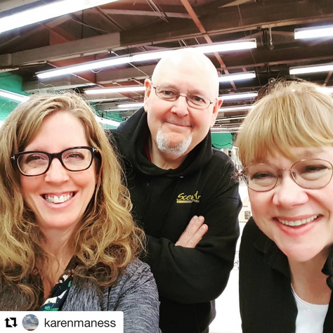 Karen Manes visits Scenic Art Studios
