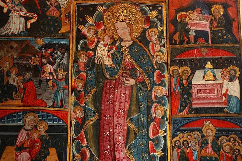 Retablo Virgen de los ángeles de Cubel.