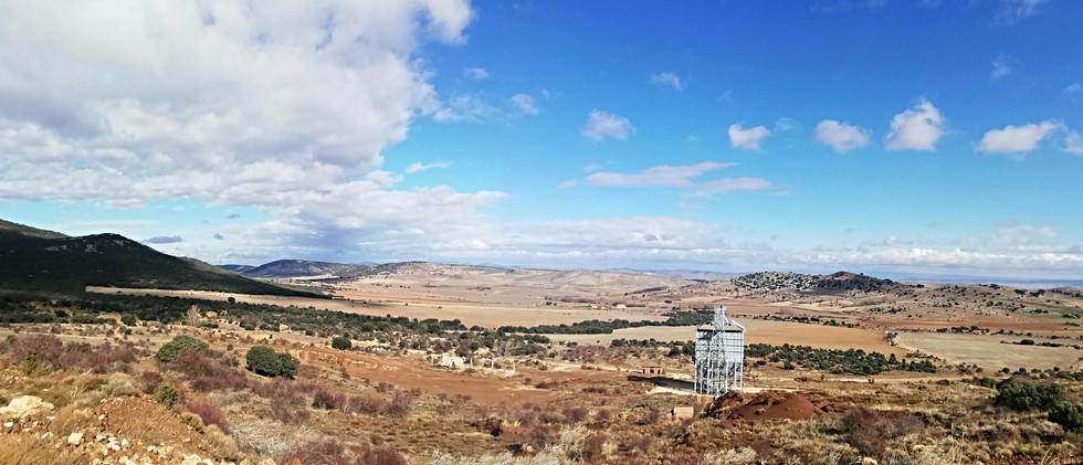 Paisaje minero con silo / Mining landscape