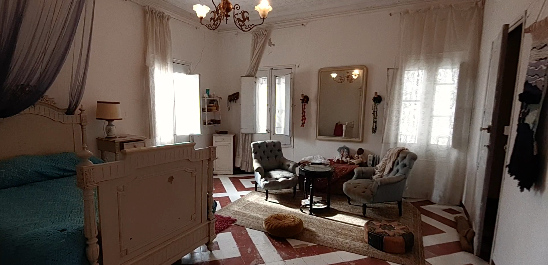 Habitación Casa Torre S XIX / 19th century house room