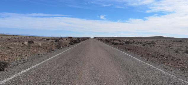Carretera páramo llano