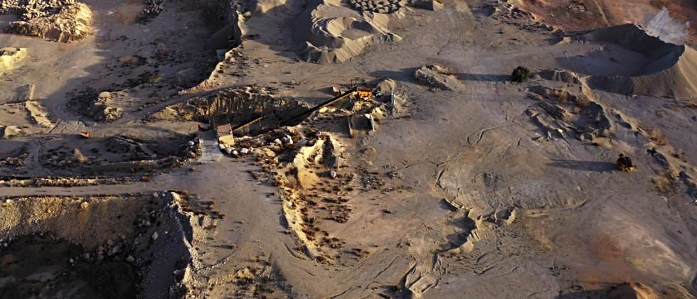 Crateres de cantera. / Quarry