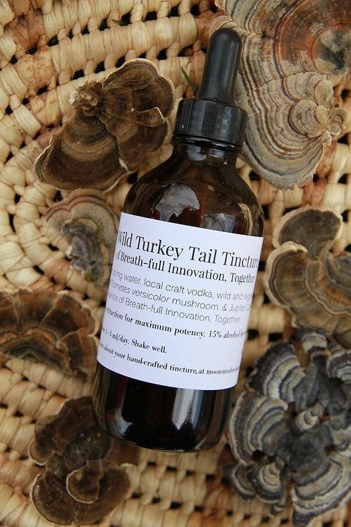 Wild Turkey Tail Tincture of Breath-full Innovation, Together