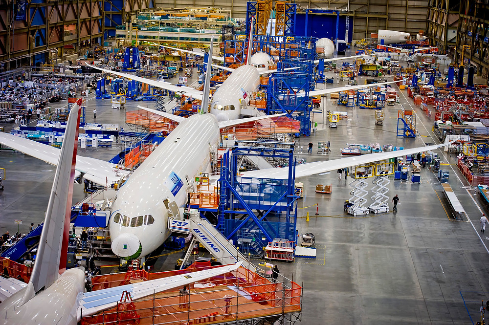 Boeing 787 Production Line