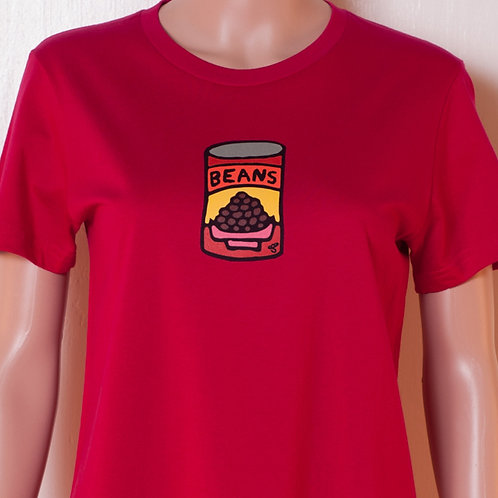 Ladies - T-shirt - Beans - Cranberry