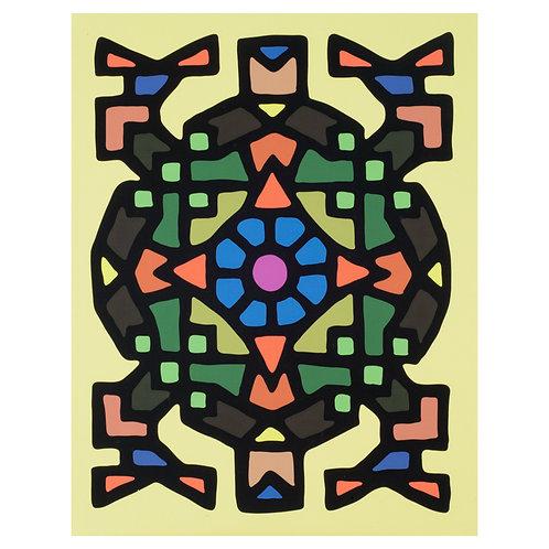 Tortuga de sabiduria - Print on Canvas - 11x14 inches