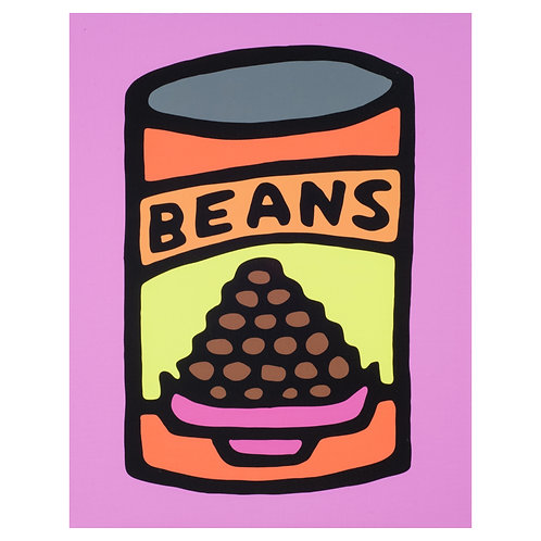 Beans (Pink) - Print on Canvas - 11x14 inches
