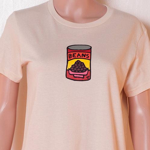 Ladies - T-shirt - Beans - Cream
