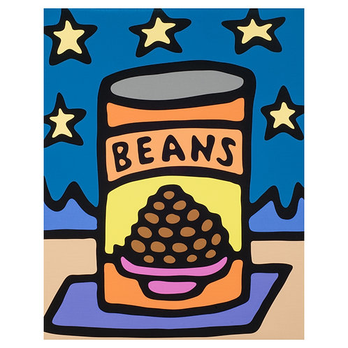 Stargazer Beans - Print on Canvas - 16x20 inches
