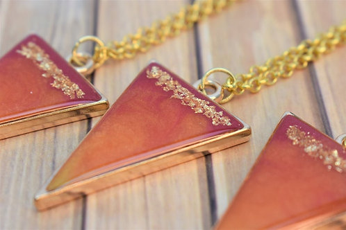 Sunrise Ombre Resin Necklace