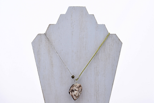 Brown and Tan Marbled Crystal Mountain WA Stone Necklace
